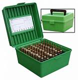 Кейс для 100 нарезных патронов MTM Rifle Ammo Boxes - Deluxe R-100 Series. Арт: R-100-MAG-10